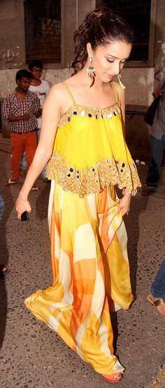 Shraddha Kapoor on the sets of Jhalak Dikhhla Jaa 7 Indian Celebrities, Bollywood Celebrities, Bollywood Fashion, Bollywood Actress, Indian Dresses, Indian Outfits, Shraddha Kapoor Cute, Half Saree, Indian Designer Wear