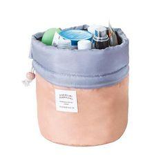 Fashion Barrel Shaped Travel Cosmetic Bag Make Up Bag Drawstring Elegant  Drum Wash Kit Bags Makeup Organizer Storage Beauty Bag  8f776d89ad870