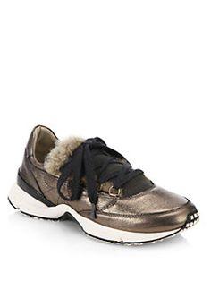 Brunello Cucinelli - Metallic Leather Runner Sneaker