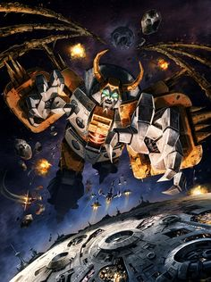 Unicron: Remember when we got excited over Omega Supreme turning into a base? We're over that now, because he changed into a planet that ate other planets for fuel! Plus he was voiced by Orson Welles, so bonus points there.