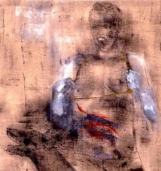 Leon Golub, Trust Me, 1993, acrylic on linen, 121.92 x 116.84 cm