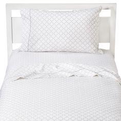 Circo® Quatrefoil Sheet Set - Gray/White