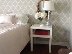 Cheap nightstand:  LACK Side Table - Night Table ... Love it!!