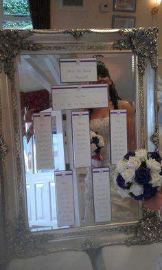 A Cadbury Purple Wedding seating plan