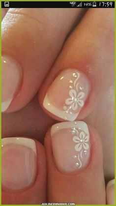 65 Beautiful Nail Art Designs 65 Beautiful Nail Art Designs <br> Are you ready to book your next manicure, if not then this is the perfect … Wedding Nails For Bride, Bride Nails, Wedding Nails Design, Wedding Pedicure, Wedding Makeup, Wedding Toe Nails, Mauve Wedding, Maroon Wedding, French Nail Designs