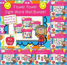 This bundle features all 300 of Fry's sight word wall posters and coordinating letter headers! 200 pages of brightly colored word wall posters to brighten your classroom in time for the new school year!