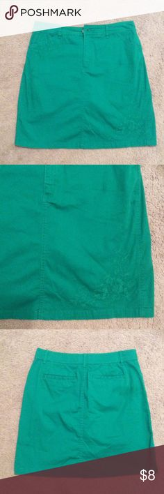 Green Skort Good condition:) Croft & Barrow Shorts Skorts