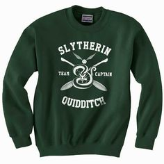 Slytherin Quidditch team Captain WHITE print on by Dreambigzz