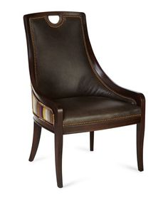 Majesty Leather Dining Chair by Massoud at Horchow.