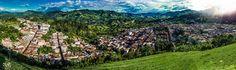Panorama desde Salvador Jerico Antioquia Colombia