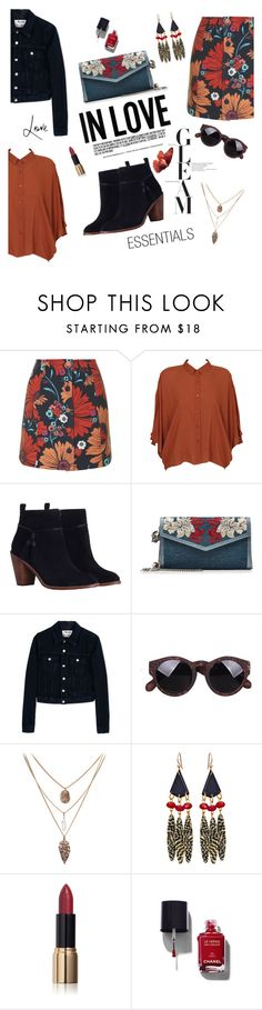 """""""Printed skirt"""" by ginny-mckenzie ❤ liked on Polyvore featuring Topshop, Cheap Monday, Zimmermann, Alexander McQueen, Acne Studios, Bellissima, Ciaté, Chanel, skirt and prints"""