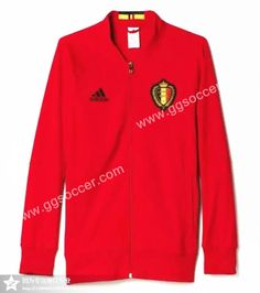2016 European Cup Belgium Red Thailand Soccer Jacket-Belgium,Thailand Soccer Jacket| topjersey
