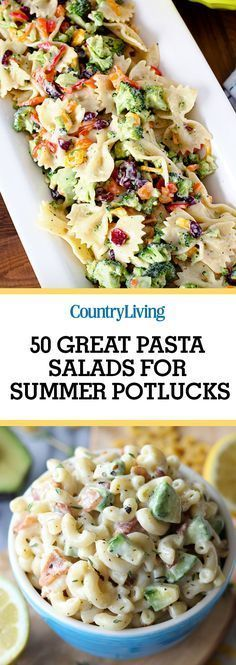 These tasty pasta salad recipes are anything but boring! Try a fun twist on the … These tasty pasta salad recipes are anything but boring! Try a fun twist on the classic today + pin these for later Lactuca Sativa, Summer Potluck, Summer Food, Summer Dishes, Summer Picnic Salads, Summer Pasta Salad, Salads For Picnics, Summer Fresh, Summer Bbq