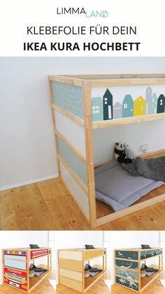 Ikea Bed Hack, Ikea Hack Kids, Baby Room Design, Baby Room Decor, Kura Cama Ikea, Ikea Kids Bed, Dinosaur Room Decor, Baby Boy Rooms, Kid Beds