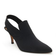 Style is made simple with the fashion appeal of the TIME. This dainty sling-back pump is the ideal way to upgrade your fall wardrobe. The padded footbed offers all day comfort.<br /><ul><li>Crepe elastic upper</li><li>Sling-back for fit</li><li>3 inch stacked heel</li><li>Leather sole</li><li>Made in Spain</li></ul>