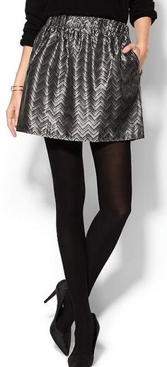 love this metallic brocade mini skirt 30% off with CELEBRATE http://rstyle.me/~3nRSf