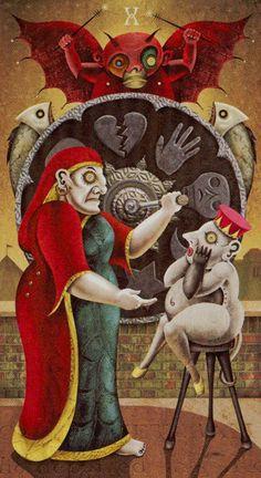 Deviant Moon Tarot - X - Wheel of Fortune