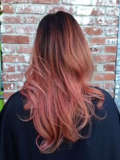 Peachy/pink ombre