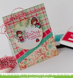 Hello and welcome to Lawn Fawn& September 2016 Inspiration Week! We are just so excited about this week! We are featuring 4 stamp sets, 9 standalone die sets, and our Perfectly Plaid Christmas collec Christmas Fairy, Plaid Christmas, Christmas Toys, Christmas 2017, Fall Cards, Winter Cards, Xmas Cards, Lawn Fawn Blog, Stamped Christmas Cards
