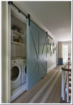 Hallway-Laundry-Barn-Door YES!!!