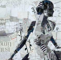Derek has gained national attention for his collage portrait series, recycling magazines, labels, and found materials to create the wor...