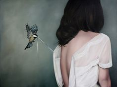 Mysteriously Surreal Paintings of Faceless Women Overpowered by Nature and Wildlife - My Modern Met