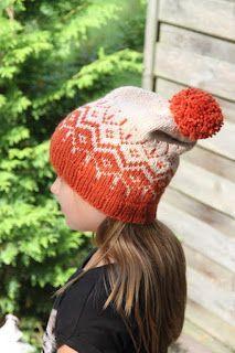 Ohje Winter day pipoon - Lankamutkalla Beanie Pattern, Winter Day, Ravelry, Knitting Patterns, Hats, Caps Hats, Orange, Knit Patterns, Hat