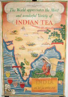 vintage Indian tea poster