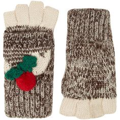 Dorothy Perkins Christmas pudding gloves
