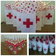 Nursing graduation favors---Image Only No Other Info Nurse Grad Parties, Nurse Party, Nursing School Graduation, School Parties, Retirement Parties, Nurses Week Gifts, Nurse Gifts, Nurses Week Ideas, Planning Medical