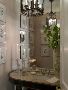 Glam bathroom