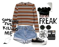 """Grunge"" by black-and-white-hipster ❤ liked on Polyvore featuring Monki, Converse, House Of Voltaire and Impossible"