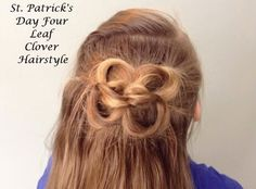St Patrick's Day Hairstyle: The Four Leaf Clover by Pretty Hairdos