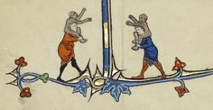 Piggy-back ride. MS. Ludwig IX 3, Fol. 63v, c.1300. J. Paul Getty Museum.