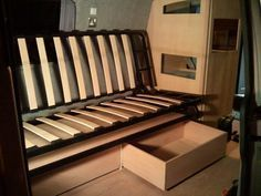 ikea exarby bed modified for campervan