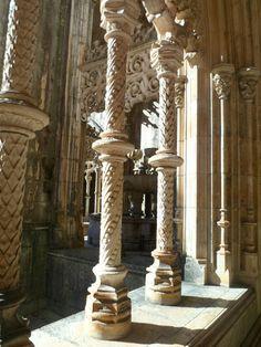 Detalhes no Mosteiro da Batalha em Portugal