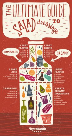For whipping up homemade salad dressings: | 21 Diagrams That Will Actually Help You Be Healthier