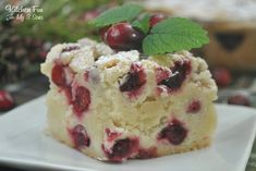 Cranberry Christmas Cake - Kitchen Fun With My 3 Sons Cranberry Cake, Cranberry Recipes, Cranberry Almond, Holiday Baking, Christmas Desserts, Christmas Cakes, Christmas Treats, Christmas Goodies, Christmas Recipes