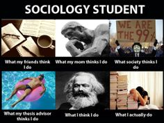 COMMENTS SOCIOLOGY MAJORS HATE TO RECEIVE Freshman year: Sociology, must be sociable!  Sophomore: So you want to be a teacher? Social worker? Soci=social work??  Junior: So want do you think of xxxx?  Senior: So....what do you want to do in future?  THE MEMORIES.