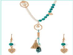 Green Beaded Necklace Designs, Green Gemstone Necklace Designs #fashion #necklace #jewellery