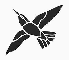 Printable hummingbird humming bird wall stencil pattern design