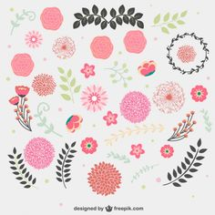 Floral free graphic vectors vynil wall spring