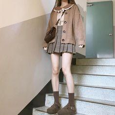 Kawaii Fashion, Lolita Fashion, Cute Fashion, Look Fashion, Girl Fashion, Korean Fashion Trends, Korea Fashion, Asian Fashion, Japanese Outfits