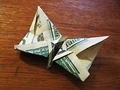 butterfly money origami - you guessed it, another clever toothfairy idea!