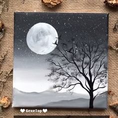 Beautiful acrylic painting video tutorial Part 22 - acrylic painting beautiful tutorial .Beautiful acrylic painting video tutorial Part 22 - acrylic painting beautiful tutorial video - newBeautiful Cute Canvas Paintings, Canvas Painting Tutorials, Easy Canvas Painting, Simple Acrylic Paintings, Painting Videos, Sky Painting, Rock Painting, Easy Nature Paintings, Sunset Painting Easy