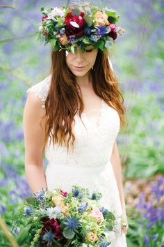~ The look of love ~ Spring weddings - every angle covered! Boho Bride, Boho Wedding, Bridal Flowers, Floral Crown, Bridal Boutique, Flower Designs, Farnham Surrey, Floral Wreath, Bouquet