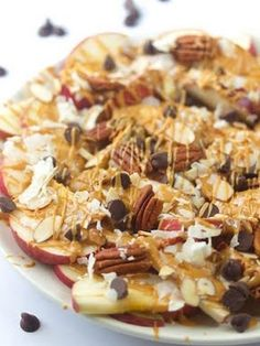 Vegan Appetizers For Super Bowl Sunday - Dessert Apple Nachos