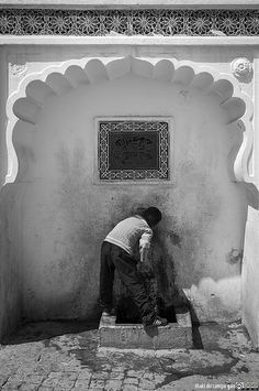 Nowdays - An old public fountain in the old city (Algiers, Algeria)