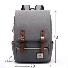 online shopping for ZEBELLA Casual Lightweight College Backpack Laptop Bag School Travel Daypack Unisex from top store. See new offer for ZEBELLA Casual Lightweight College Backpack Laptop Bag School Travel Daypack Unisex Retro Backpack, Backpack For Teens, Backpack Bags, Fashion Backpack, Travel Backpack, Travel Bags, Vintage Backpacks, Girl Backpacks, School Backpacks