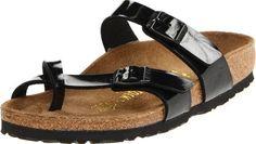 sandals: Birkenstock Birko Flor Mayari Sandal,Black M EU Birkenstock Sandals, Birkenstock Mayari, Black Sandals, Shoes Sandals, Toe Loop Sandals, Hot Heels, Fashion Sandals, Comfortable Sandals, Sporty Style
